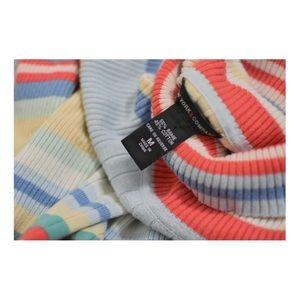 Rainbow pastel turtleneck sweater